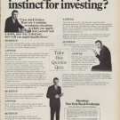 "1968 New York Stock Exchange Ad ""How good is your instinct for investing?"""