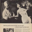 """1957 Warner's Ad """"stay up all night"""""""
