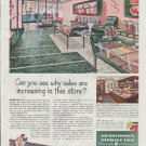 """1948 Armstrong Cork Company Ad """"sales are increasing"""""""