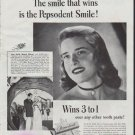 """1948 Pepsodent Ad """"The smile that wins"""""""