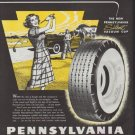 """1948 Pennsylvania Tires Ad """"Perfect Foursome for Town and Country!"""""""
