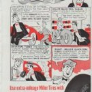 """1948 Miller Tires Ad """"Stay Out Of This Picture"""""""