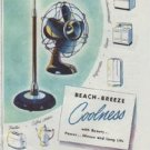 """1948 Westinghouse Ad """"Beach-Breeze Coolness"""""""