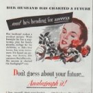 """1948 The Mutual Benefit Life Insurance Company Ad """"Her Husband"""""""