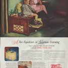 "1948 Zenith Ad ""A New Experience in Luxurious Listening"""
