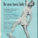 """1948 Spalding Ad """"It's Murder for some tennis balls"""""""