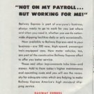 "1948 Railway Express Agency Ad ""Not On My Payroll"""