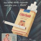 """1954 Old Gold Ad """"Enjoy every benefit"""""""