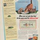 """1954 Puss 'n Boots Ad """"balanced food"""""""