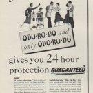 "1954 Odo-Ro-No Ad ""no matter how active you are"""