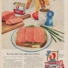 "1954 Rath Meats Ad ""Real farm fixin's"""