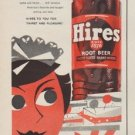 "1954 Hires Root Beer Ad ""snacks and meals"""