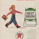 "1954 Texaco Ad ""Smart Traveler"""