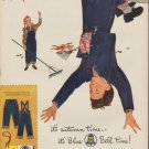 """1953 Blue Bell Ad """"it's autumn time"""""""