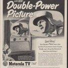 """1953 Motorola Ad """"Double-Power Picture"""""""