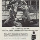 "1953 Woodbury Shampoo Ad ""Little girls and big girls"""