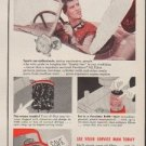 "1953 Purolator Ad ""change your Oil Filter regularly"""