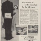 """1953 Pacific Contour Sheets Ad """"the answer"""""""