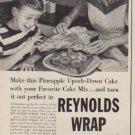 """1953 Reynolds Wrap Ad """"Upsy-Daisy!"""""""
