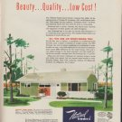"1953 National Homes Ad ""Now Air-Conditioned"""