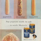 "1953 Morton Salt Ad ""Any popcorn"""