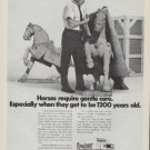 "1971 Mayflower Ad ""Horses require gentle care."""