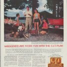 """1957 C.I.T Credit Corporation Ad """"Weekends are more fun"""""""