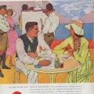 """1957 Coca-Cola Ad """"At Lake Louise"""""""