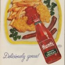 """1952 Hunt's Catsup Ad """"Deliciously yours!"""""""