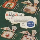 """1952 Serviset Ad """"Holidays Ahead"""""""
