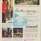 """1952 Douglas Airplanes Ad """"Less than a day away"""""""