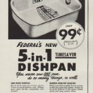 """1952 Federal Enameled Ware Ad """"A 1939 Bargain"""""""