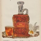 """1952 Old Forester Ad """"America's Guest Decanter"""""""