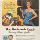 """1952 Camel Cigarettes Ad """"Ruth Hussey"""""""