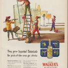 "1951 Hiram Walker's Gin Ad ""Imported Botanicals"""