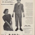 """1953 Mutual Of New York Ad """"The bigger he gets"""""""