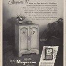 """1953 Magnavox Ad """"finer pictures"""""""