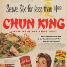 "1953 Chun King Ad ""Serve Six"""