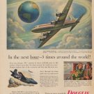 """1953 Douglas Aircraft Ad """"In the next hour"""""""