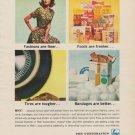 "1963 FMC Corporation Ad ""Fashions are finer"""
