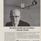 """1963 Harris Bank Ad """"How Harris can boost your cash balance"""""""