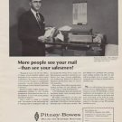 "1963 Pitney-Bowes Ad ""More people"""