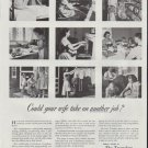 """1948 Travelers Insurance Company Ad """"another job"""""""