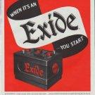 """1948 Exide Ad """"You Start"""""""