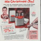 "1948 Eversharp-Schick Ad ""His Christmas Joy!"""