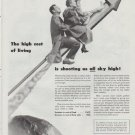 """1948 National Dairy Products Corporation Ad """"The high cost of living"""""""