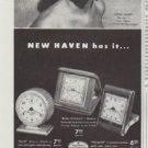 "1948 New Haven Clock And Watch Company Ad ""Ilona Massey"""