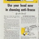 """1948 Commercial Solvents Corporation Ad """"Use your head"""""""
