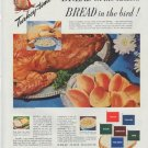 "1948 Wheat Flour Institute Ad ""Bread on the table"""