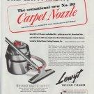 """1948 Lewyt Ad """"Carpet Nozzle"""""""